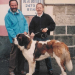 YOUNGSTEAD ERASMUS with Monsignor Lamon and Kevin at Hospice Du Grand Saint Bernard in the Swiss Alps